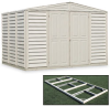 DURAMAX WoodBridge Vinyl/Steel-Reinforced Storage Sheds -- 2903000