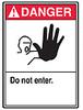 ANSI Safety Sign, Danger - Do Not Enter, 10