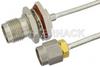 SMA Male to TNC Female Bulkhead Semi-Flexible Precision Cable 24 Inch Length Using PE-SR405FL Coax, LF Solder, RoHS -- PE39475-24 -Image