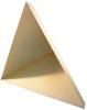 8.9 inch Edge Length, Trihedral Corner Reflector, ¼-20 Threaded Hole Mount, Aluminum Body, Gold Chem Film Finish -- PEWRL0008 -Image