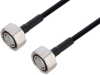 Outdoor Rated 7/16 DIN Male to 7/16 DIN Male Low PIM Cable 36 Inch Length Using SPO-250 Coax Using Times Microwave Parts -- PE3C6341-36 -Image