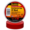 "Scotch® Professional Grade Color Coding Vinyl Electrical Tape 35 - Red - 3/4"" x 66 ft roll -- MMMTAPE-35-3/4-66-RED -- View Larger Image"