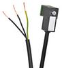SOLENOID CBL 8mm DIN 0-230V 3m (9.84ft) 3-WIRE PIGTAIL PVC -- SC8-3