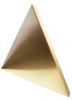 8 inch Edge Length, Trihedral Corner Reflector, ¼-20 Threaded Hole Mount, Aluminum Body, Gold Chem Film Finish -- PEWRL0006 -Image