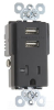 Combination Switch/Receptacle -- TR5361USB-BK -- View Larger Image