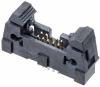 5+5 Pos. Male DIL Vertical Throughboard Conn. with Ejector -- M50-3550542