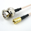 BNC Male to SMB Plug Cable RG-316 Coax in 12 Inch and RoHS -- FMC0816315LF-12 -Image