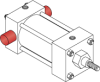 Series MN Aluminum Pneumatic Cylinder - Model MN72 NFPA Style MT2 -- Blind End Trunnion Mount