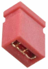 2 Pos. Female Jumper Socket, Closed Shunt, Red -- M50-1920005 -- View Larger Image