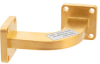 WR-42 Waveguide H-Bend with UG-595/U Flange Operating from 18 GHz to 26.5 GHz -- PEW42B100 -Image