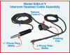 X/Y Intercom Headset Cable w/Volume Control, Custom Length -- Model 9364 - Image