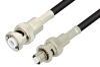 MHV Male to SHV Plug Cable 24 Inch Length Using RG58 Coax -- PE3950-24 -Image
