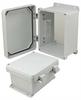 8x6x4 Inch UL® Listed Weatherproof NEMA 4X Enclosure, Non-Metal Mounting Plate, Non-Metallic Hinges -- NBN080604-KIT01 -Image