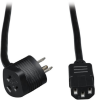 Piggyback Extension Cord, NEMA 5-15P to 2x C13 - 13A, 125V, 16 AWG, 6 ft., Black -- P006-006-515MF