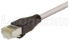 L-COM - TRD695SCR-2 - PATCH CORD, CATEGORY 6 SHIELDED, 2FT, GREY -- 19186