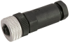 Single Key (M12) Micro-Link Field Attachable Connector, 4 pole, Female, PG7 entry -- 304AFW7 - Image