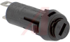Fuseholder; 5 mm x 20 mm Size Fuses; 10A; 250 V; Thermoplastic; Panel Mount -- 70160248