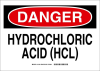 Brady B-302 Polyester Rectangle White Chemical, Biohazard, Hazardous & Flammable Material Sign - 10 in Width x 7 in Height - Laminated - TEXT: DANGER HYDROCHLORIC ACID (HCL) - 131835 -- 754473-82557