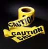 Scotch(R) 300 Caution Tape, Yellow, 3 in x 1000 ft, 8 per case -- 051128-53042