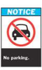 Brady ANSI Z535 Safety Signs: No Parking -- sf-19-038-207