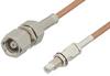 SMC Plug to SMC Jack Bulkhead Cable 60 Inch Length Using RG178 Coax -- PE33352LF-60 -Image