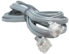 50ft RJ11 6P4C Straight Modular Telephone Cable -- PS02-50