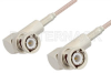 BNC Male Right Angle to BNC Male Right Angle Cable 12 Inch Length Using RG316-DS Coax, RoHS -- PE3389LF-12 -Image