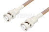 MHV Male to MHV Male Cable 12 Inch Length Using RG400 Coax, RoHS -- PE34425LF-12 -Image