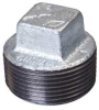 Square Head Plug,2 In,NPT,Malleable Iron -- 5PAT6