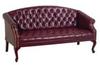Reception Sofa,Ox Blood,Mahogany -- 15Z390