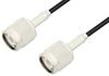 TNC Male to TNC Male Cable 48 Inch Length Using PE-B100 Coax -- PE38830-48 -Image