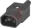 Plug Assembly, Power; 10 A; 250 VAC; 10000 Megohms (Min.); Nylon; 18 AWG -- 70133308 - Image
