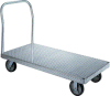 Platform Truck - Aluminum Wesco: Caster Options (Two rigid, two swivel per set) -- WES-250051