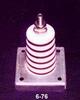 Porcelain Corrugated Base Insulator -- 6-76 - Image