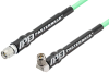 SMA Male to SMA Male Right Angle Low Loss Test Cable 36 Inch Length Using PE-P142LL Coax with HeatShrink, LF Solder -- PE342-36 -Image