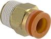 Connector, Pneumatics; 3/8 in.; 3/8 in.; 17.46 mm (Hex.); 7 mm (Min.); NTP; PVC -- 70070342
