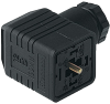 GDMW High-Voltage Line DIN Standard Field Attachable Connector: Form A, 4-pin (3+1PE; PE across cable outlet), black housing, screw type, PG11; without circuitry, 400 V AC/DC, 16 A -- GDMW 3011 CF black - Image