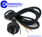 AC  Power Cords -- CA-AUS-8FT-3W-S/T-ICC-H05RNF1.0 - Image
