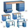 LISTA Complete Pedestal Workbenches -- 5374904