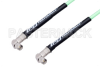 SMA Male Right Angle to SMA Male Right Angle Low Loss Cable 60 Inch Length Using PE-P142LL Coax, RoHS -- PE3C1425-60 -Image
