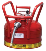 Justrite Accuflow Red 2 1/2 gal Safety Can - 12 in Height - 11 3/4 in Overall Diameter - 697841-14080 -- 697841-14080