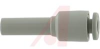 Fitting, 4 mm; 34.5 mm; 10.4 mm; 1.0 MPa (Max.); -5 degC; 60 degC; C3604BD, PB -- 70070836 - Image