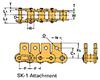 Single Pitch Conveyor Lambda Chain Attachment -- RSC35-LAMBDA-SK-1 - Image