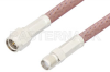 SMA Male to SMA Female Cable 24 Inch Length Using RG142 Coax, RoHS -- PE3611LF-24 -- View Larger Image