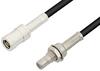 SMB Plug to SMB Jack Bulkhead Cable 72 Inch Length Using PE-B100 Coax -- PE34491LF-72 -Image