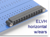 Header Terminal Block -- ELVH Series Mini Header with Locking Ears - Image