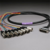 GEPCO 8CH DB25 Audio Snake Cable 25-PIN TO 3-PIN XLR MALES 5 -- 20DA88512-DB25XP-050