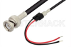 BNC Male to Unterminated Lead Cable 60 Inch Length Using RG58 Coax -- PE33565-60 -Image