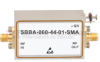 2 GHz to 6 GHz, 44 dB Gain Broadband High Gain Amplifier with 1 Watt and SMA -- SBBA-060-44-01-SMA -Image