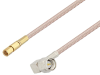 SMA Male Right Angle to SSMC Plug Cable 12 Inch Length Using RG316-DS Coax -- PE3C4438-12 -Image